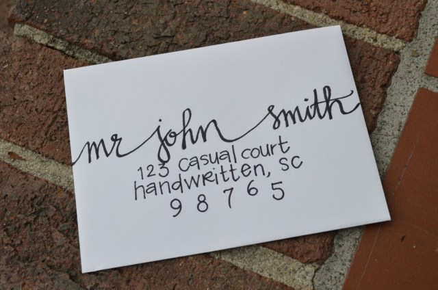 Handwritten Wedding Invitations Handwritten Calligraphy For Party Or Wedding Invitations Or