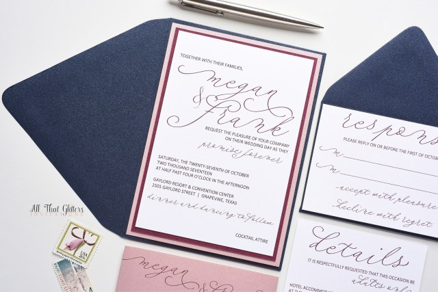 Handwritten Wedding Invitations Megan Handwritten Wedding Invitation All That Glitters Invitations