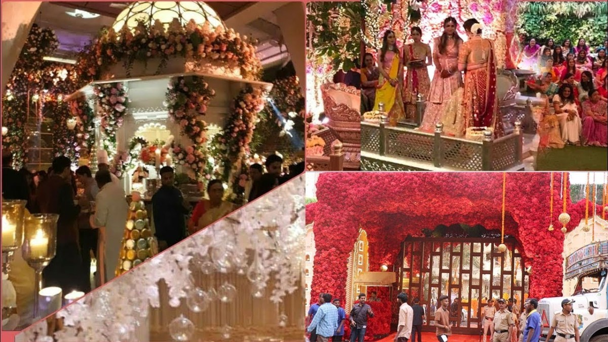 House Wedding Decorations Firt Visuals Of Ambani House Grand Decorations For Daughter Isha