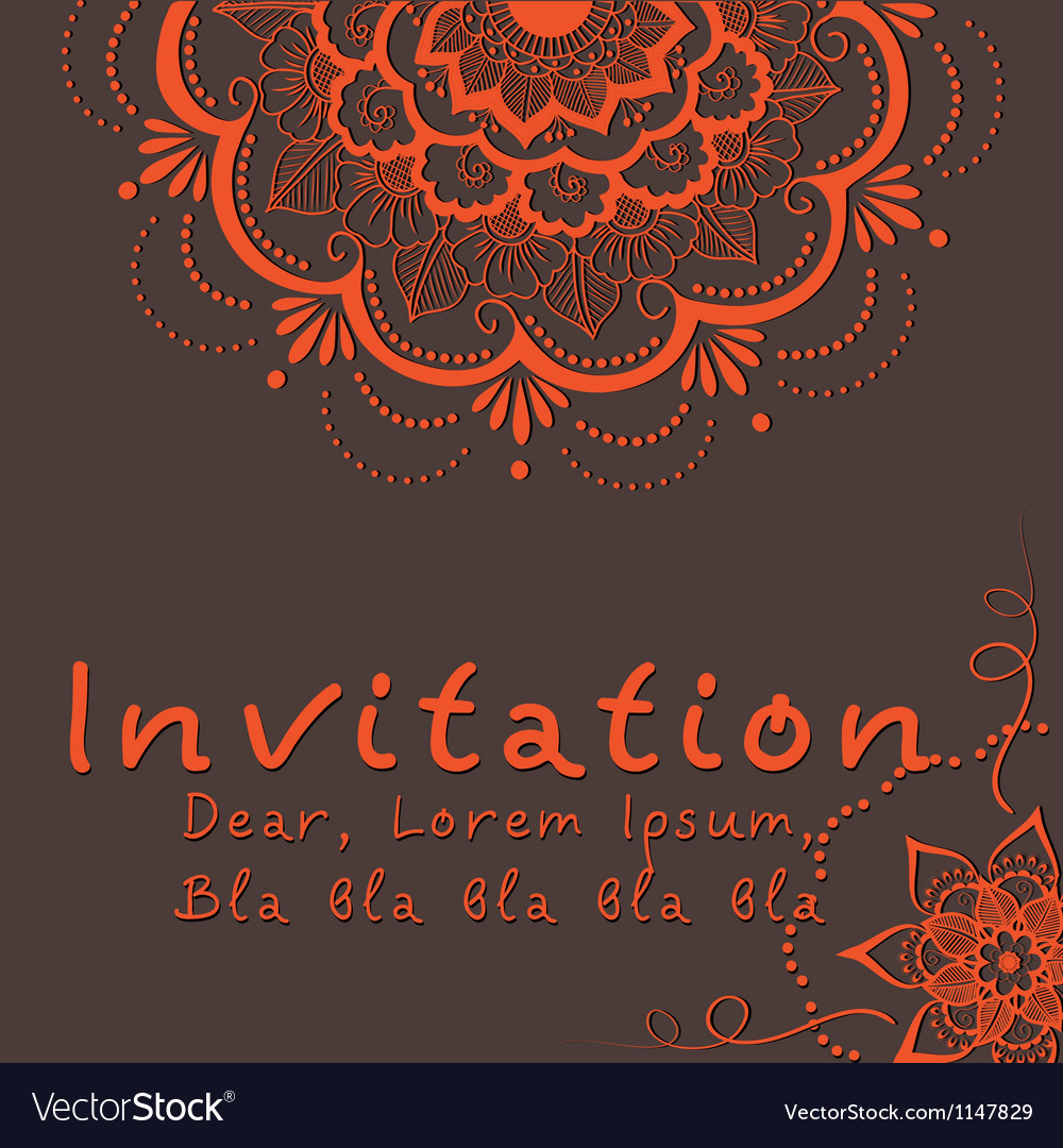 Indian Wedding Invitation Indian Wedding Invitation Royalty Free Vector Image