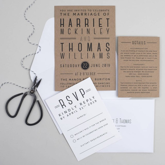 Invitation To Our Wedding Graphic Type Wedding Invitation Pear Paper Co