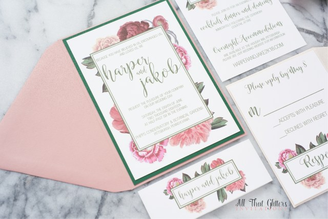 Invitation To Our Wedding Harper Floral Wedding Invitation Suite All That Glitters Invitations
