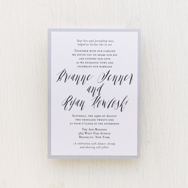 Invitation To Our Wedding Modern Calligraphy Customizable Wedding Invitations Beacon Lane
