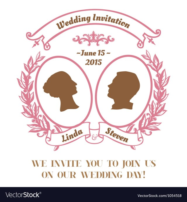 Invitation To Our Wedding Wedding Vintage Invitation Card Royalty Free Vector Image
