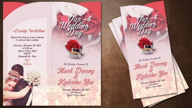 Invitations For Wedding How To Make Creative Wedding Invitations Cover In Photoshop Youtube