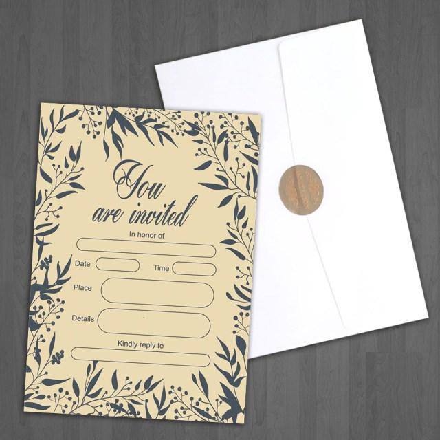 Invitations For Wedding Jofanza Invitations 50 Fill In Invitations For Wedding Bridal Ba
