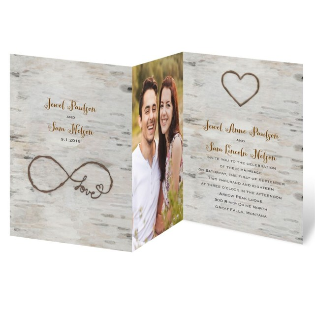 Invitations For Wedding Love For Infinity Zfold Invitation Invitations Dawn