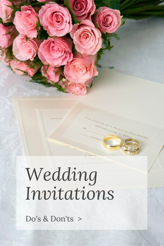 Invitations For Wedding Wedding Invitation Dos And Donts Temple Square