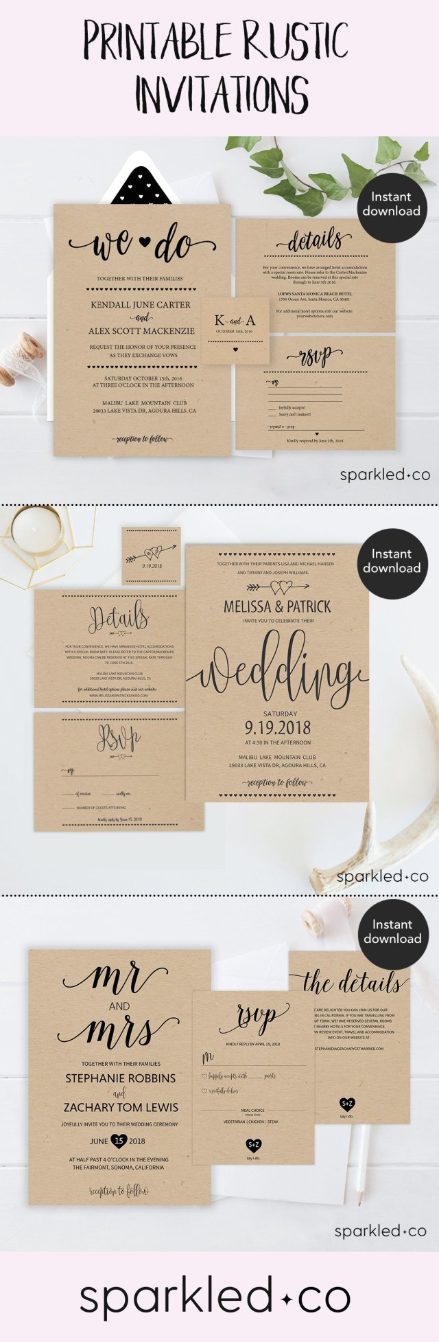 Invitations Wedding Cheap Rustic Wedding Invitation Template Wedding Invitation Templates