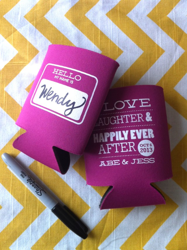 Koozie Ideas Wedding 23 Most Creative Wedding Favor Koozies Ideas For Your Wedding Party