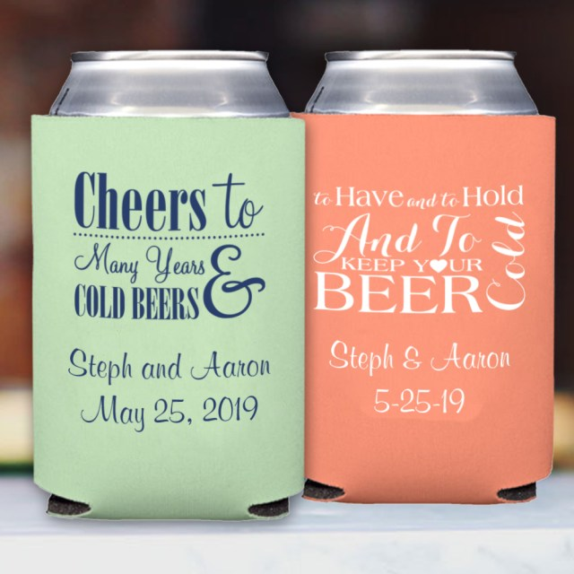 Koozie Ideas Wedding Premium Neoprene Can Coolers Personalized My Wedding Reception Ideas