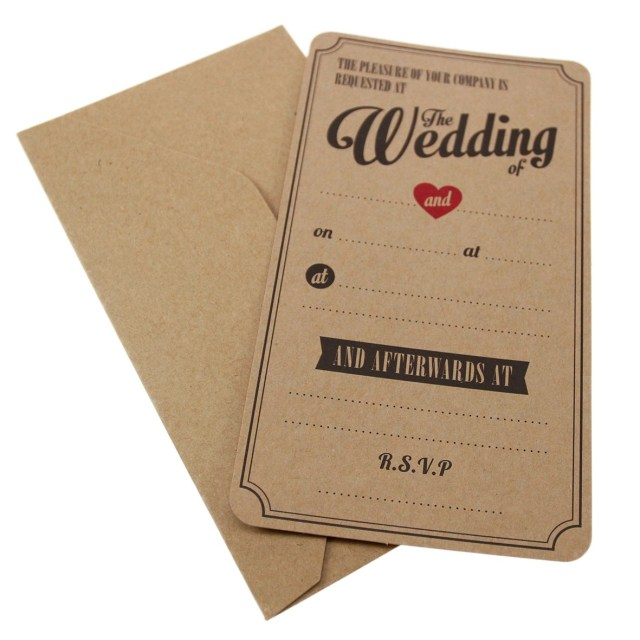 Kraft Wedding Invitations Kraft Wedding Invitations Vintage Affair Wow Vow