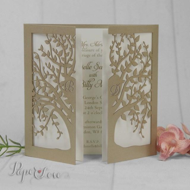 Laser Cut Tree Wedding Invitations Die Cut Tree Wedding Invitations Wwwbilderbeste