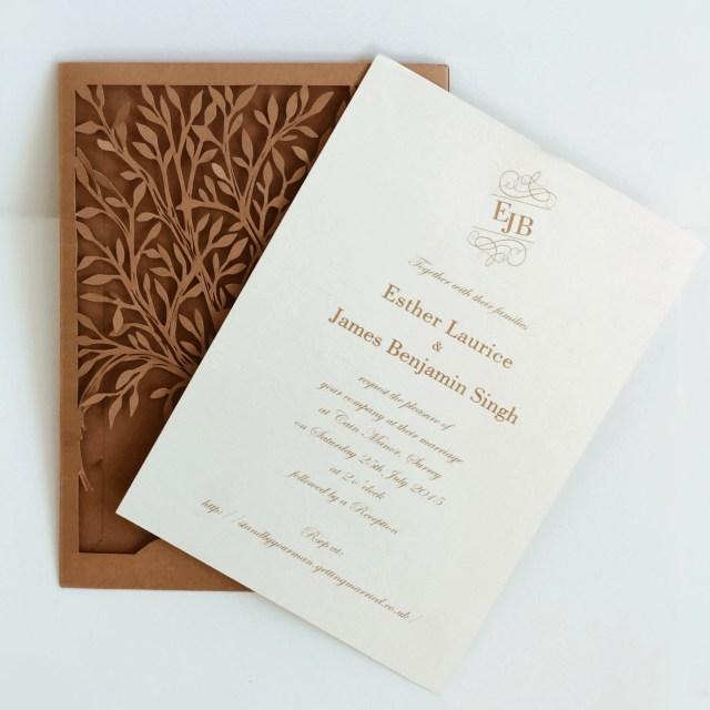 Laser Cut Tree Wedding Invitations Laser Cut Love Tree Wedding Invitations Heart Tree