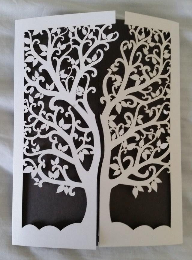Laser Cut Tree Wedding Invitations Lksinvitations Elegant Tree Of Life Laser Cut Wedding Invitation Cards