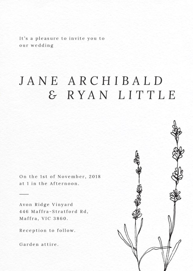 Lavender Wedding Invitations Delicate Lavender Dp Wedding Invitations