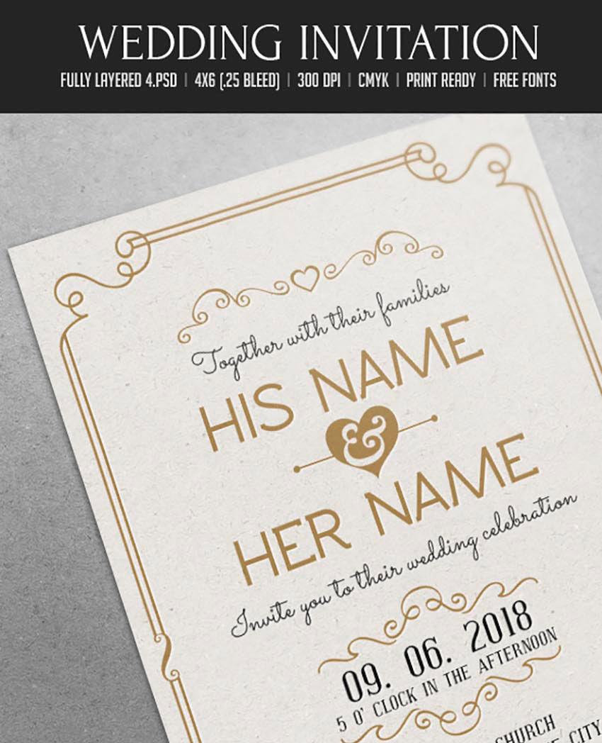 Layered Wedding Invitations 50 Stylish Invitation Templates