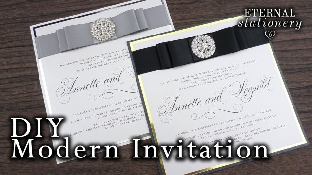 Making Wedding Invitations How To Make Elegant Modern Wedding Invitations Diy Invitation