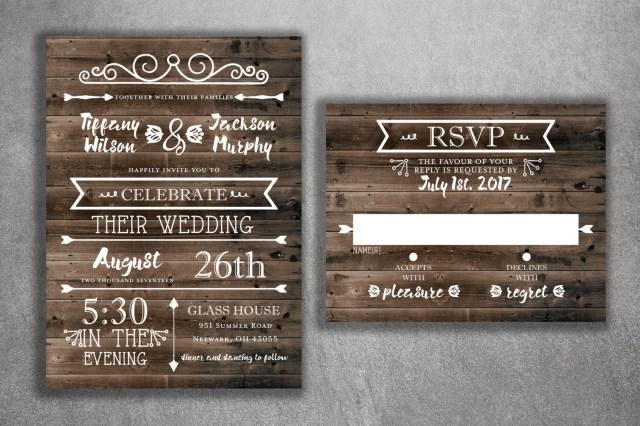 Mason Jar Wedding Invitation Kits Country Wedding Invitations Rustic Wedding Invitation Etsy