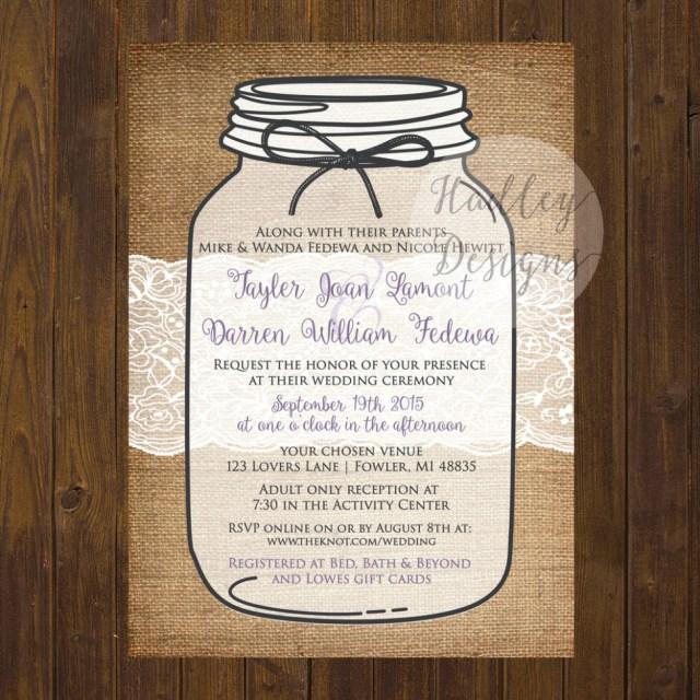 Mason Jar Wedding Invitation Kits Download Mason Jar Wedding Invitations Document And Letter Collection