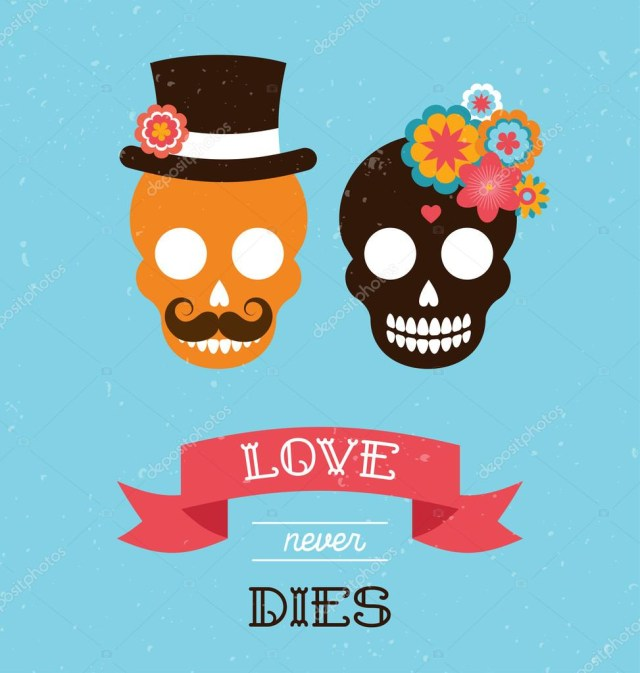 Mexican Wedding Invitations Mexican Wedding Invitation With Two Hipster Skulls Stock Vector
