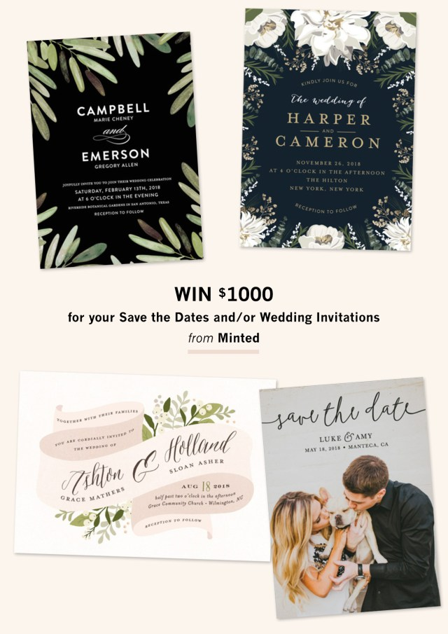 Minted Wedding Invitations Invitation Suites From Minted 1000 Giveaway Green Wedding Shoes