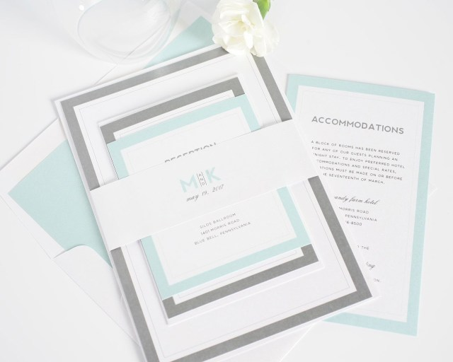 Minted Wedding Invitations Modern Mint Wedding Invitations Wedding Invitations