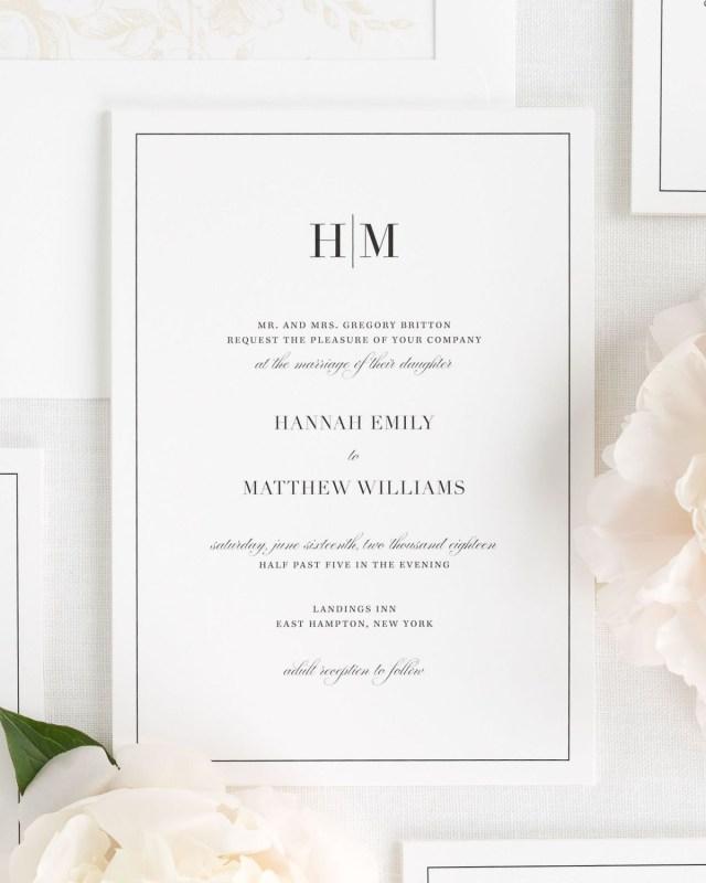 Modern Wedding Invitations Glam Monogram Wedding Invitations Wedding Invitations Shine