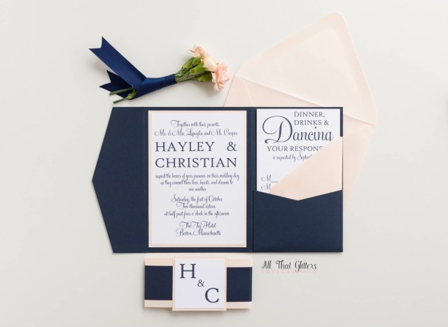 Modern Wedding Invitations Hayley Modern Classic Wedding Invitation Suite All That Glitters