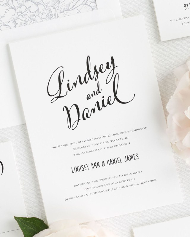Modern Wedding Invitations Modern Script Wedding Invitations Wedding Invitations Shine