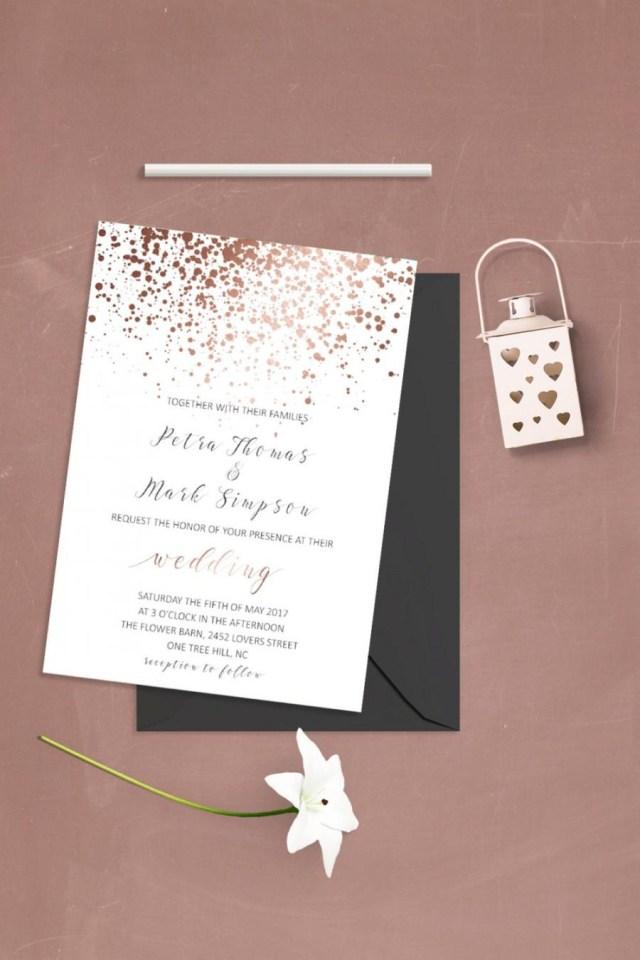 Modern Wedding Invitations Simple Wedding Invitation Template Modern Wedding Invitation Set