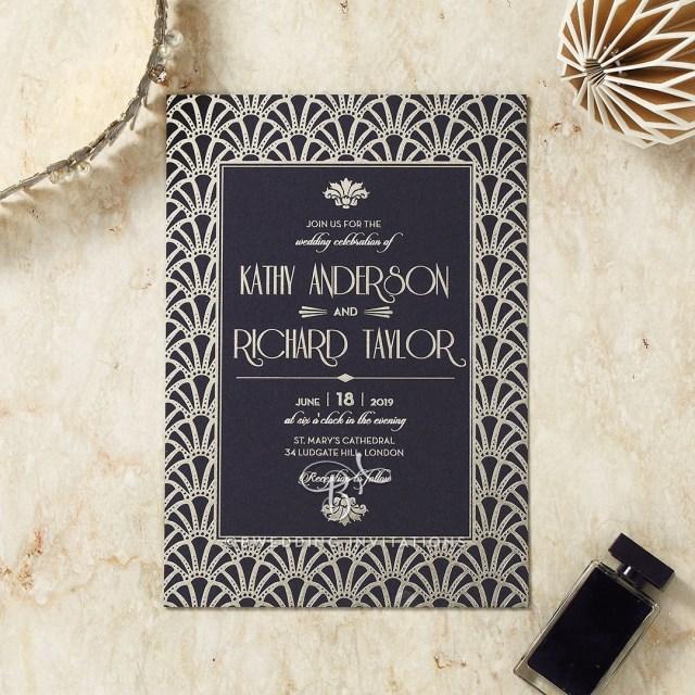 Modern Wedding Invitations Stylish Foil Modern Wedding Stationery Exquisitely Unique