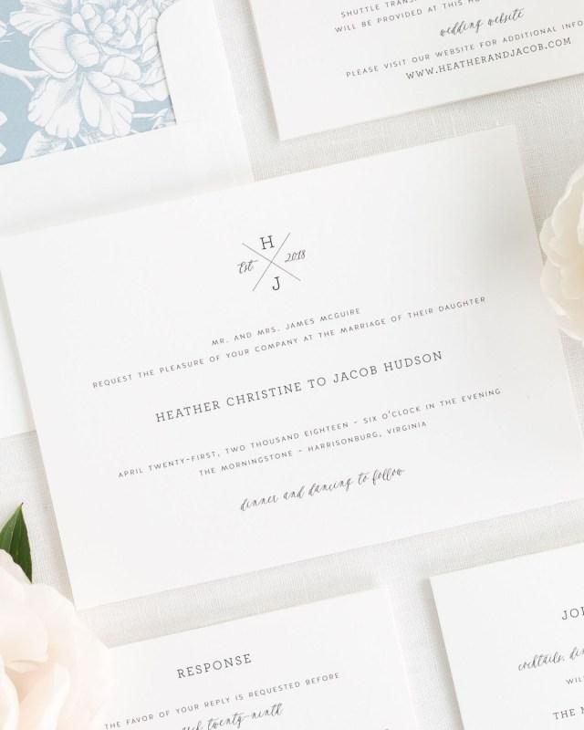 Monogram Wedding Invitations Cross Monogram Wedding Invitations Wedding Invitations Shine