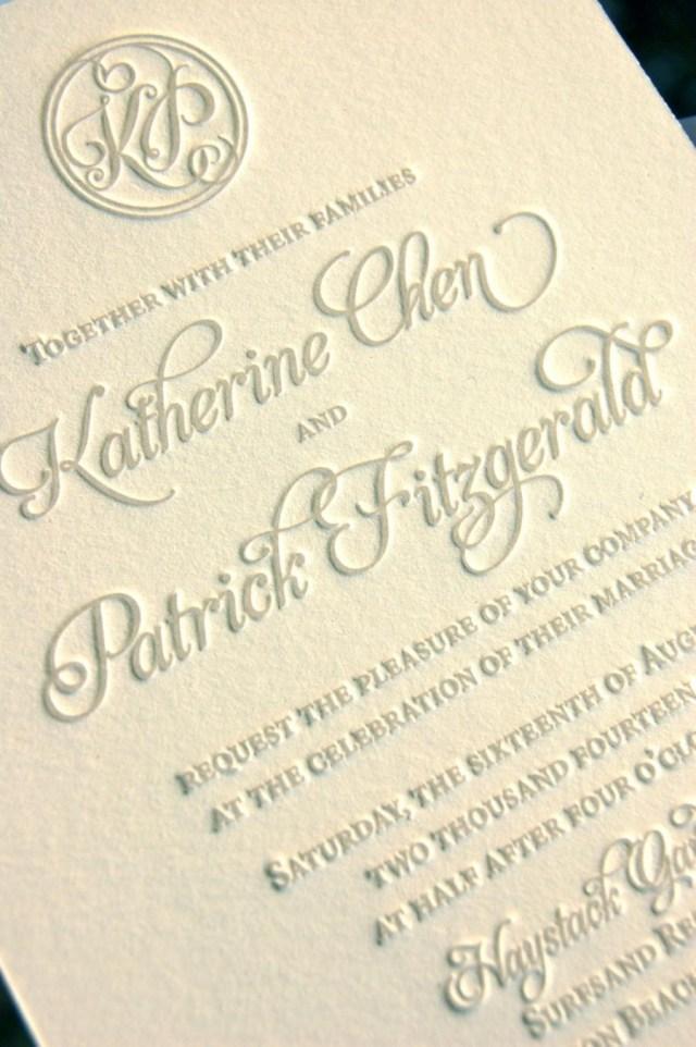 Monogram Wedding Invitations Monogram Wedding Invitations Letterpress Invitations Soft Gray