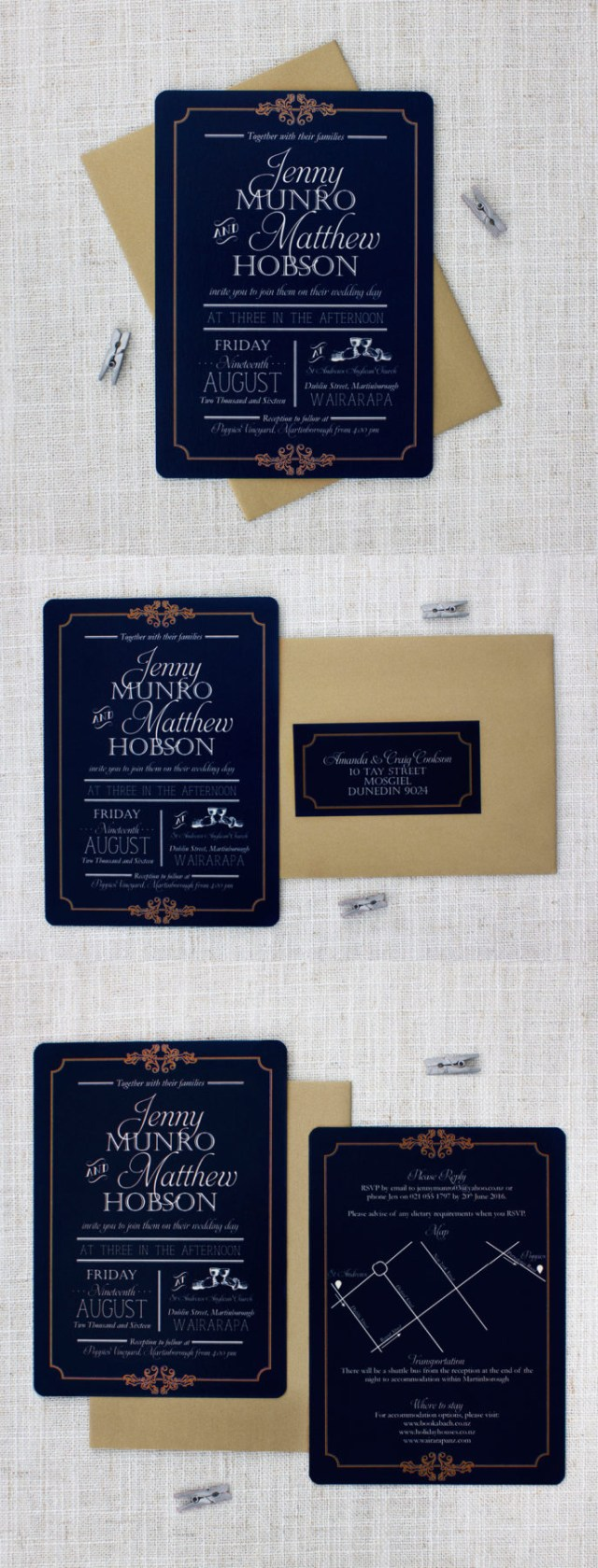 Navy And Gold Wedding Invitations Elegant Navy And Gold Wedding Invitation Be My Guest