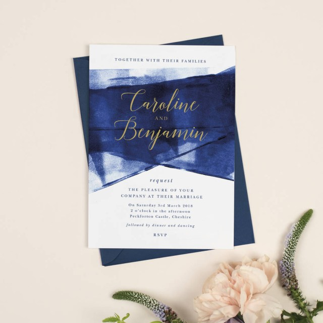 Navy And Gold Wedding Invitations Grace Navy And Gold Wedding Invitations Project Pretty