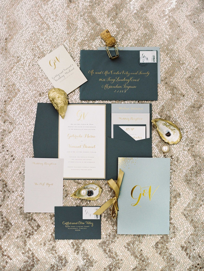 Navy Blue And Gold Wedding Invitations Invitations More Photos Blue Gold Wedding Invitation Suite
