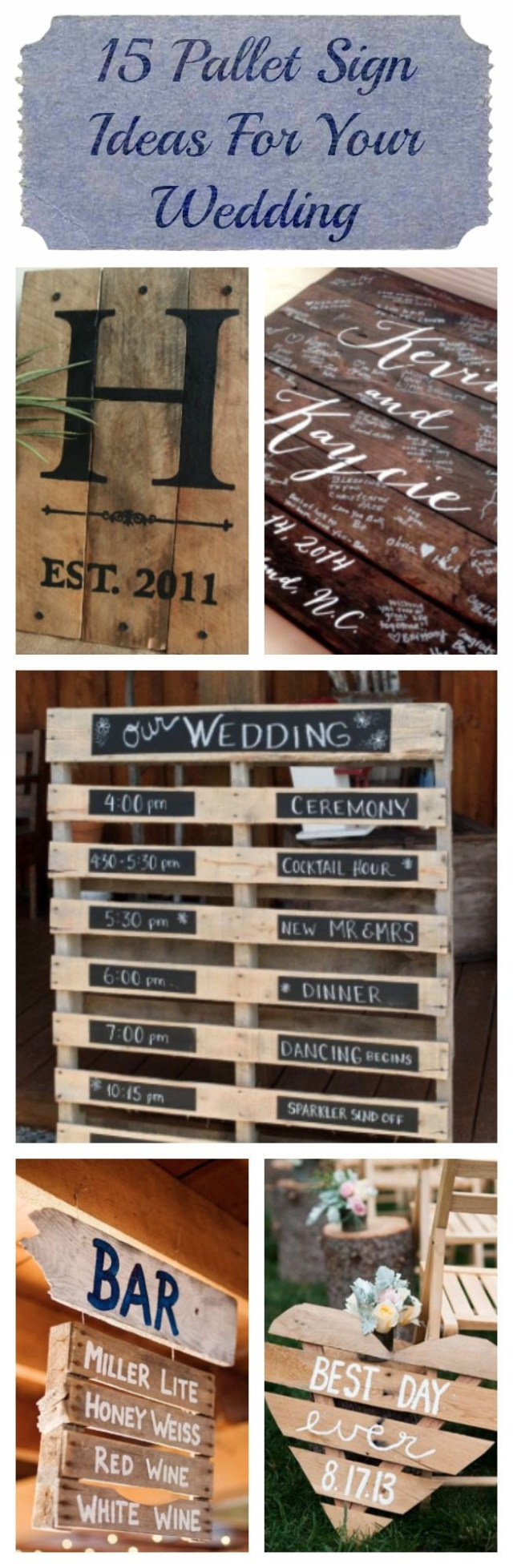 Pallets Wedding Ideas 15 Pallet Sign Ideas For Your Wedding Rustic Wedding Chic