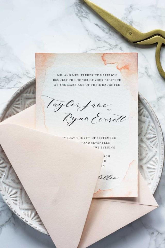Paper For Wedding Invitations Subtle Watercolor Wedding Invitations How To Make Your Own