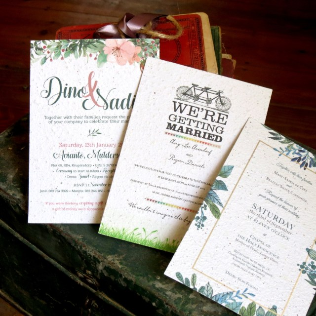 Paper For Wedding Invitations Wedding Invitations Handmade With 100 Recycled Growing Seed Paper
