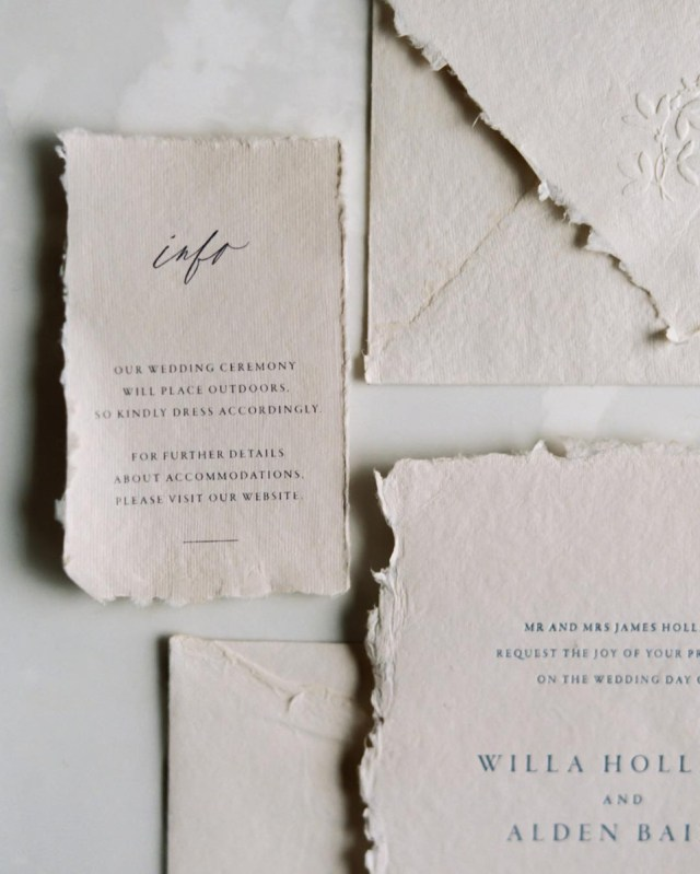 Paper For Wedding Invitations Where To Find Handmade Deckle Edge Paper