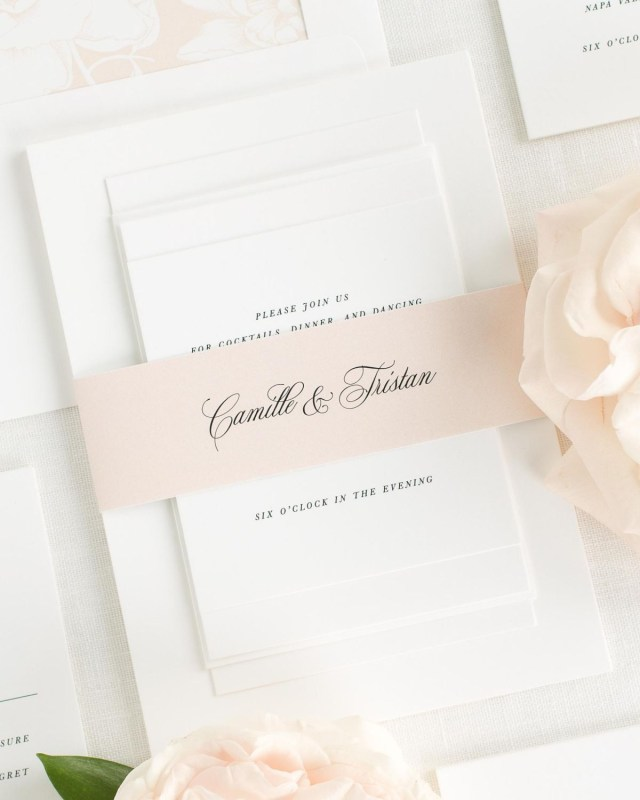 Peach Wedding Invitations Camille Wedding Invitations Wedding Invitations Shine