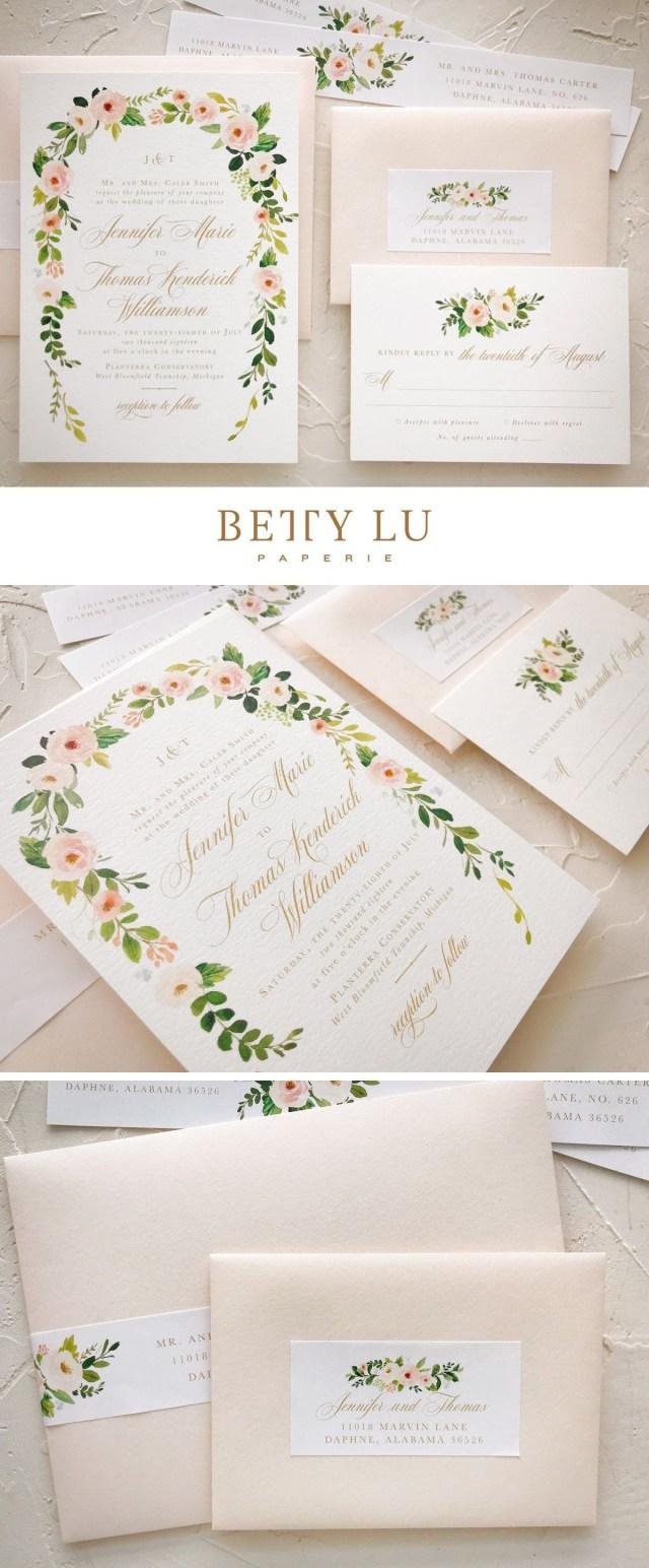 Peach Wedding Invitations Elegant Peach Wedding Invitation Wedding Theme Ideas