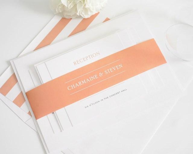 Peach Wedding Invitations Elegant Wedding Invitations In Peach Wedding Invitations