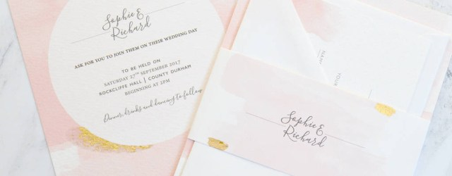 Pink Wedding Invitations Blush Watercolour Wedding Invitation Amanda Michelle Design