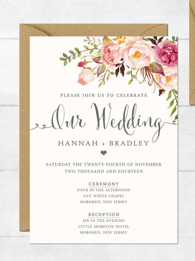 Pinterest Wedding Invitations 16 Printable Wedding Invitation Templates You Can Diy Wedding