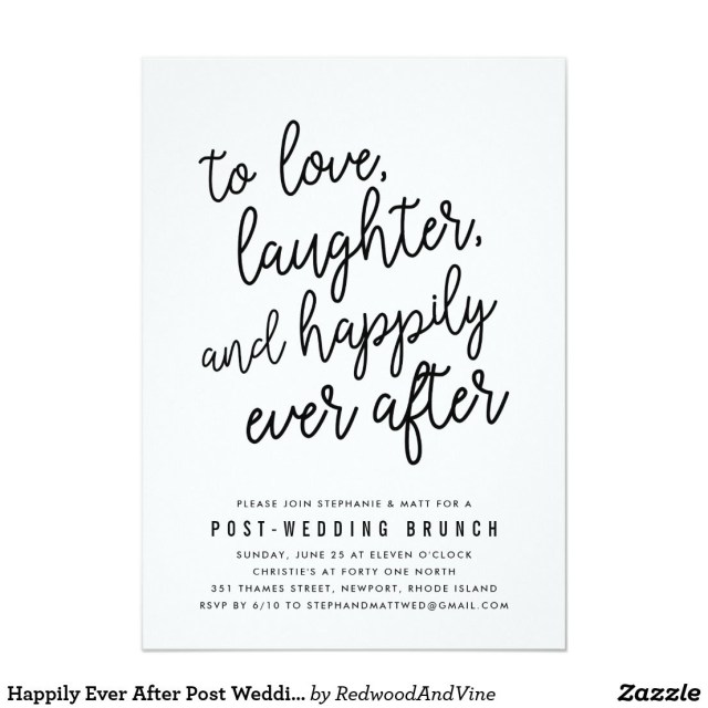 Post Wedding Brunch Invitations Happily Ever After Post Wedding Brunch Invitation In 2018 Wedding