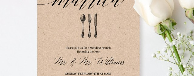 Post Wedding Brunch Invitations Post Wedding Brunch Invitation Template Printable Brunch Invite
