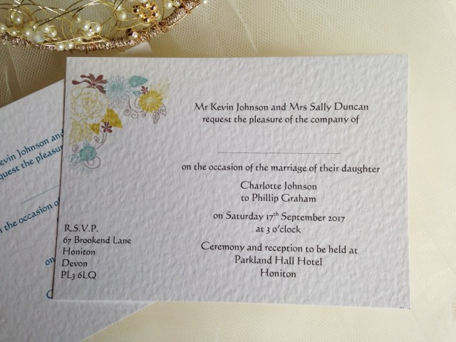 Postcard Wedding Invitations Blooms Postcard Wedding Invitations Wedding Invites