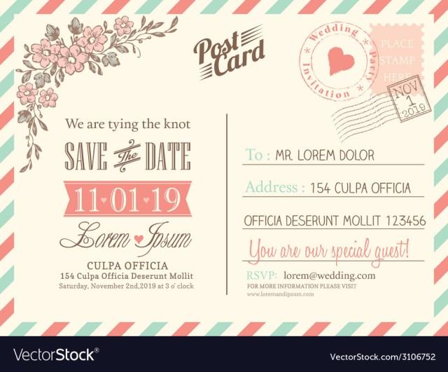 Postcard Wedding Invitations Vintage Postcard Background For Wedding Invitation